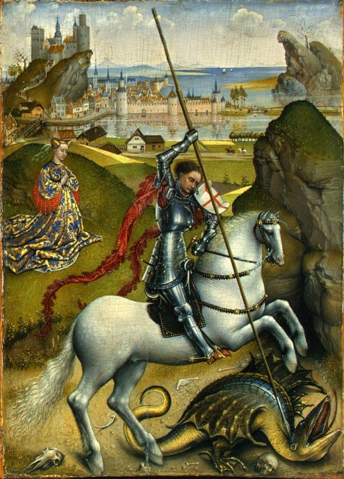 saint-george-and-the-dragon-rogier-van-der-weyden-1435