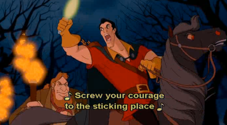 MB.Quote appears in Beauty and the Beast
